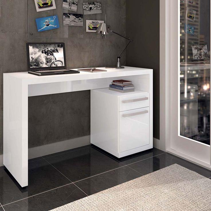 Escrivaninha para computador Kappesberg – Branco - Mesas para Computador e…