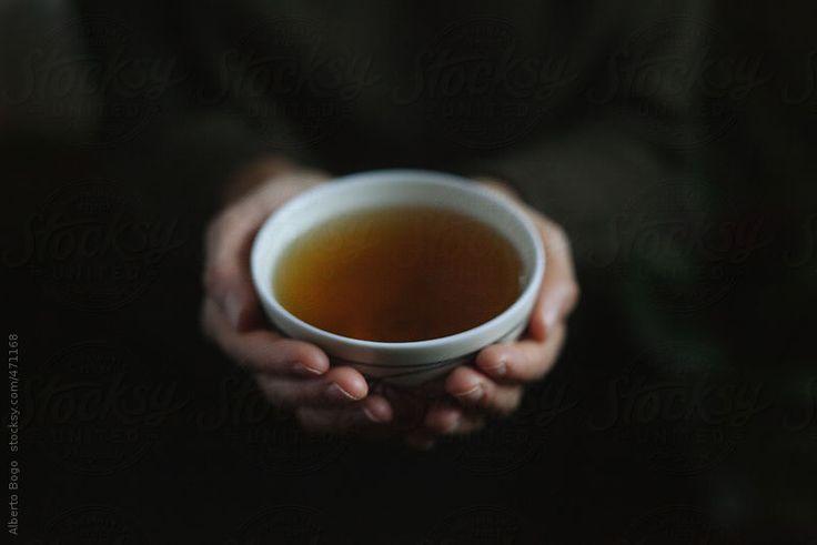 Woman Holding a Tea Mug