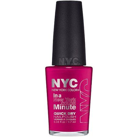 NYC New York Color In a New York Color Minute Quick Dry Nail Polish, Greenwich Village, 0.33 fl oz, Multicolor