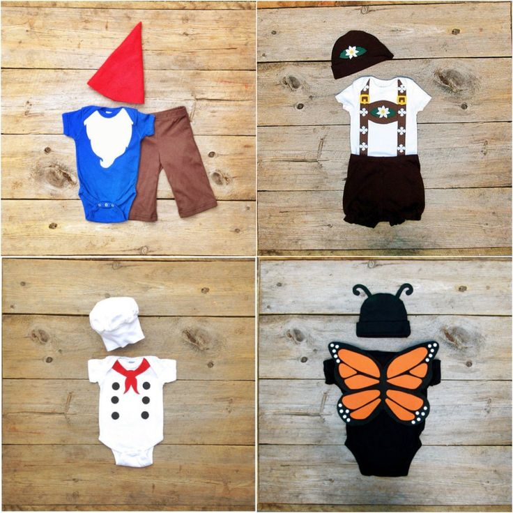 Halloween costumes for babies, using only a onesie! (via The Wishing Elephant)