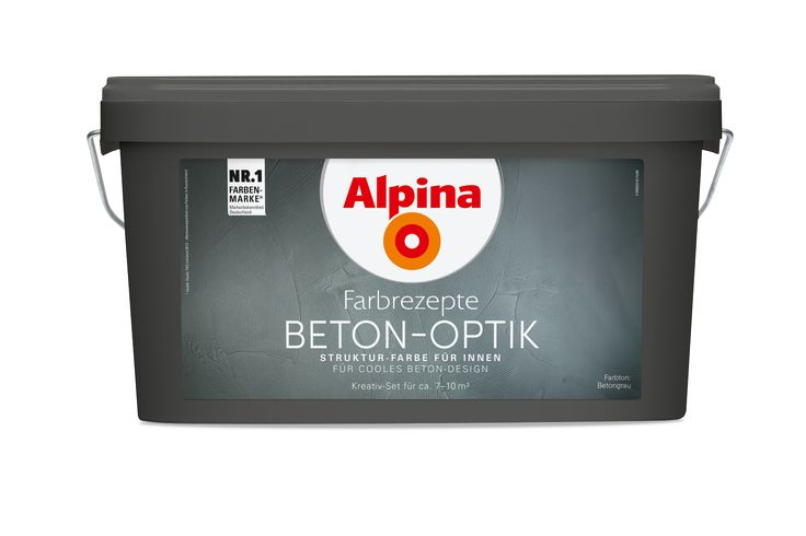 Alpina Farbrezepte BETON-OPTIK