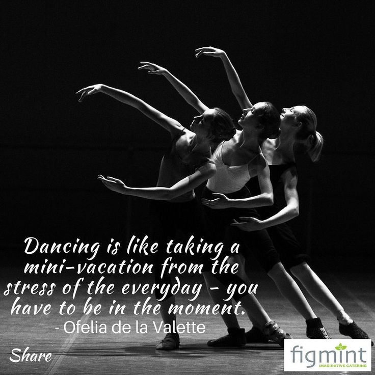 """Dancing is like taking a mini-vacation from the stress of the everyday - you have to be in the moment."" - Ofelia de la Valette #figmintcatering #sydneycaterer #thehighheeledhostess #partyquote"