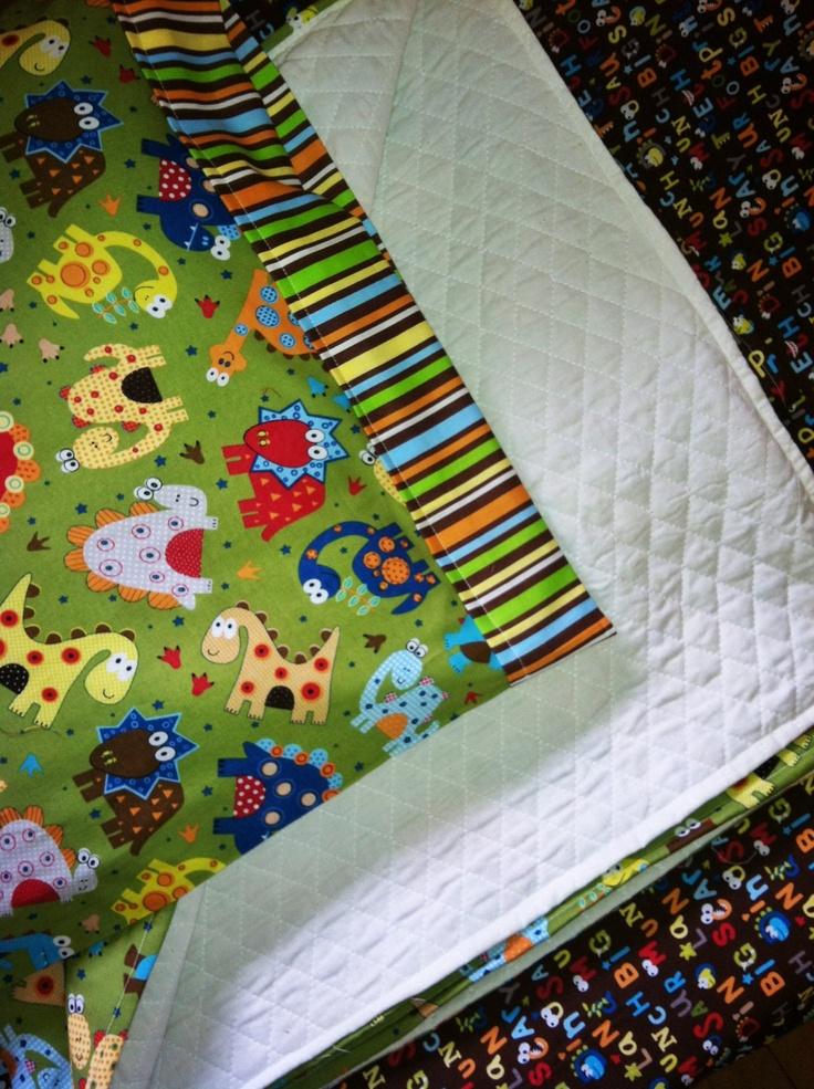 Dinosaur Crib Toddler Bedding Set By Craftingwhiletheynap