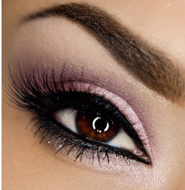 the soft pink tones against the brown eye and brow is gorgeous.