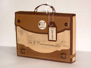 Мастерская Динь-Динь: Мастер-класс по портфельчику для открытки или подарка