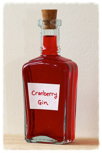 Cranberry gin - We missed the Sloes, so I'm going to try this instead!