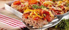 Hackfleischpizza mit Paprika