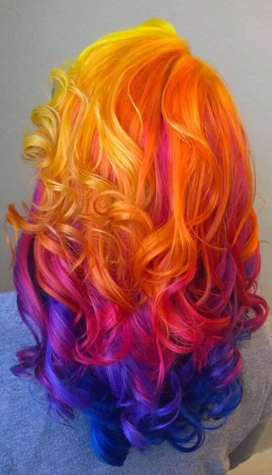 Nighttime Sunset Hair Hair Pinterest Instagram