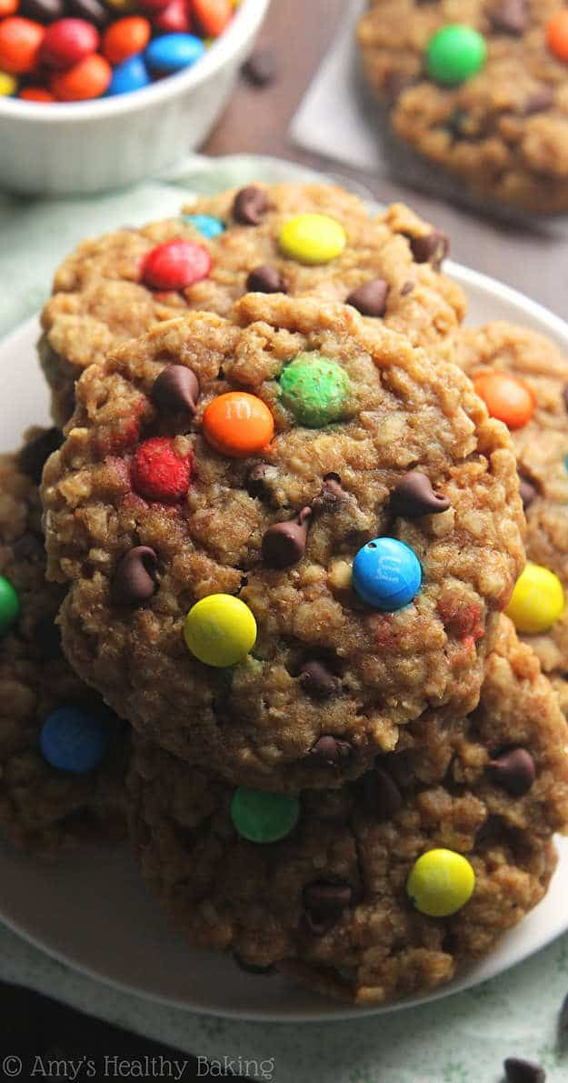 Healthy Monster Cookies | Healthy Versions Of Comfort Food Recipes For Guilt-Free Cravings
