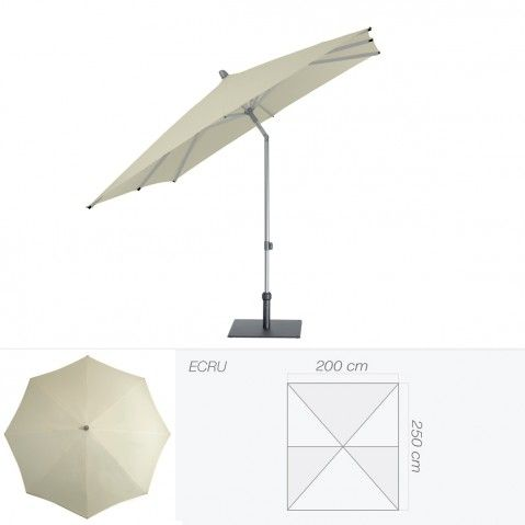 parasol alu smart de glatz rectangulaire 250x200 cm cru. Black Bedroom Furniture Sets. Home Design Ideas