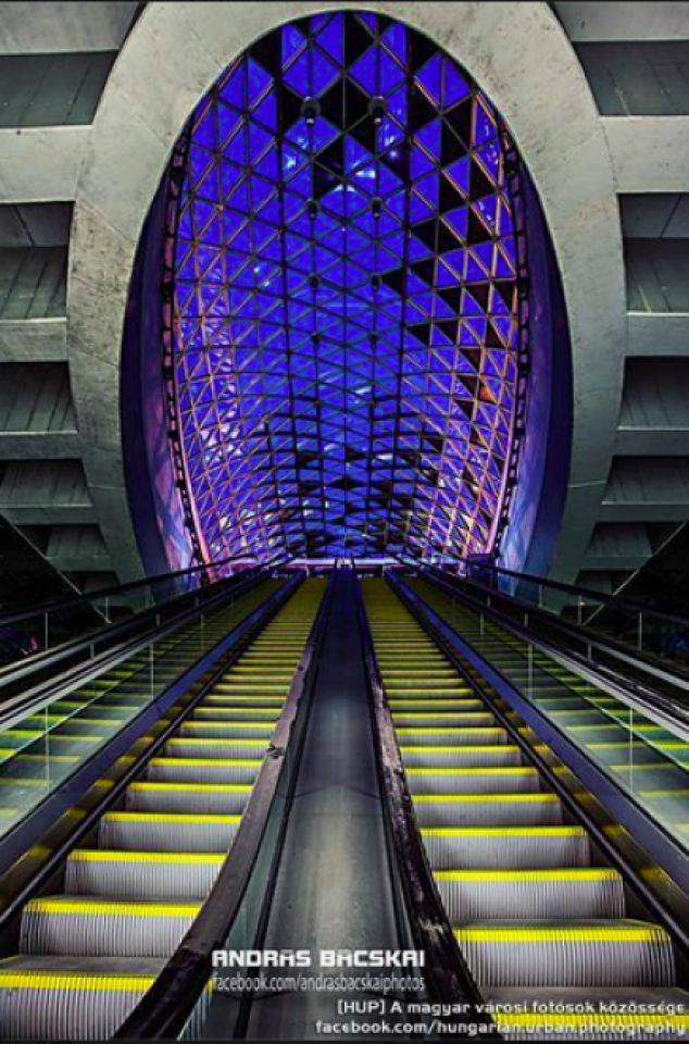 """"""" NUMBER 4 METRO """" of Budapest . The Newest Metro, HUNGAR Y"""