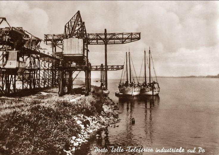 Porto Tolle (RO) Teleferica Industriale sul Po