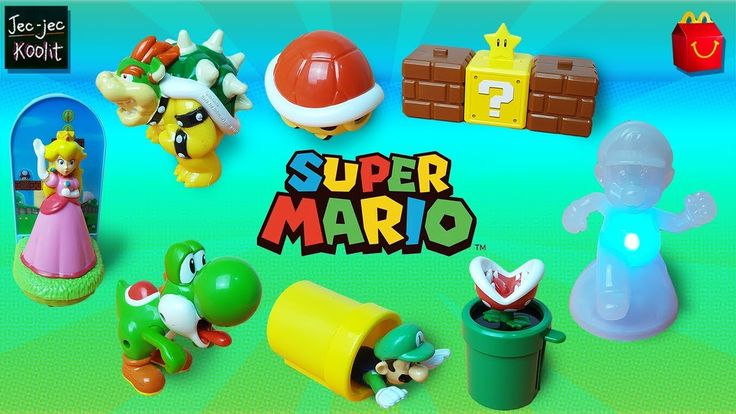 New 2017 Nintendo Super Mario McDonald's Happy Meal Toys