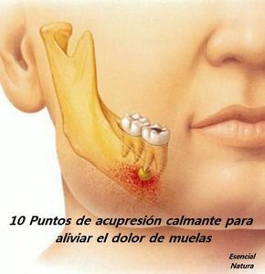 10 Puntos de acupresión calmante para aliviar el dolor de muelas