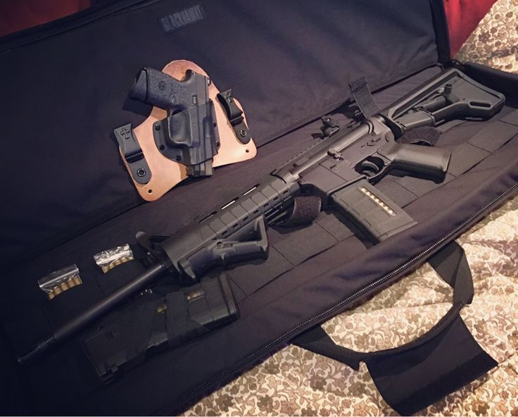 #AR-15 #AR15 Ruger 556 W/ Magpul rail, stock, grip, angled fore grip and mags.  Fns 9mm Compact W/ Ameriglow night sights, talon grips, and Crossbreed holster. #2ndAmendment