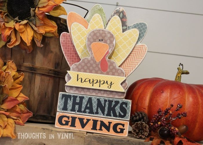 Happy Thanksgiving {Turkey} darling thanksgiving wood crafts