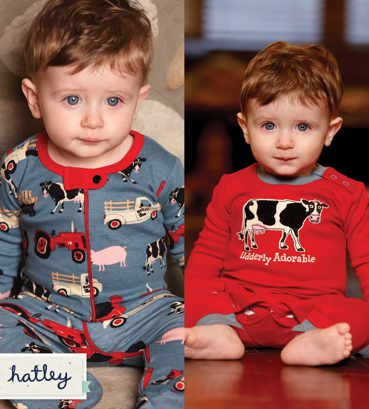 Moooooove yourself into bed with these farm themed PJ's.                                                                     Do they make these in a size 2T or bigger?!!!