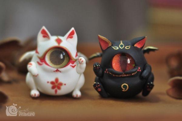 ◆ Mango Dolls ◆ 代理 ◆Fingertip Dreamland独眼魔宠组- 猫蛋