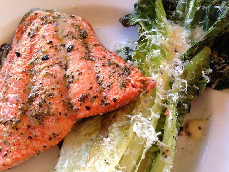 Salmon+salad+recipes+like+this+one+turn+your+grill+into+a+surf+and+salad+domain+for+romain.+Salmon+Caesar+Salad+is+a+light,+bright,+high+protein+supper.