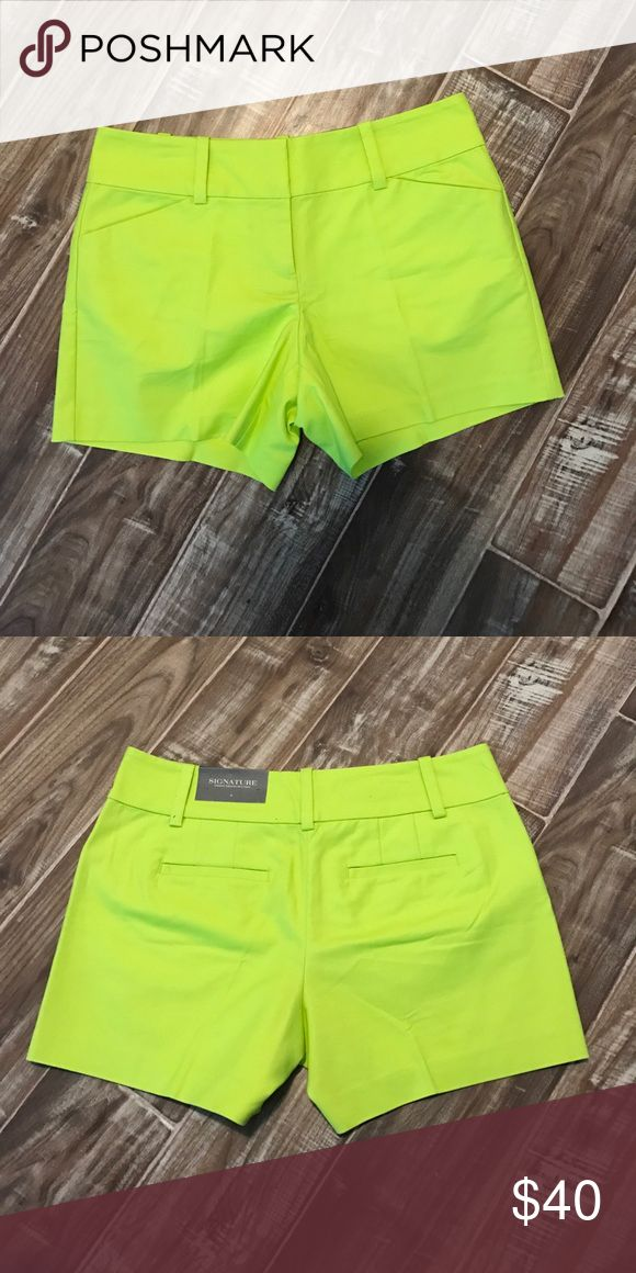 Lime Green Shorts Never worn still has tags. Great condition! Ann Taylor Shorts