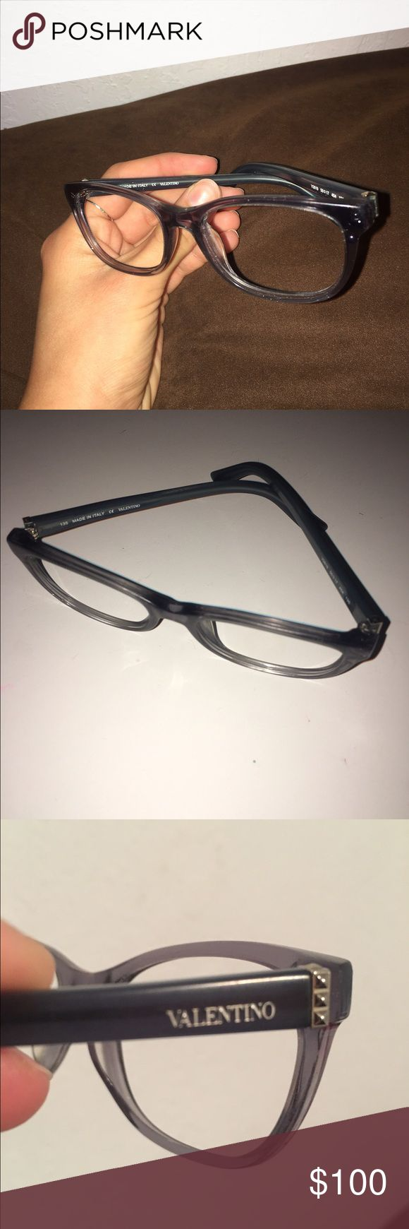 Valentino Glasses Frames! Blueish-grey Valentino glasses frames. Prescription lenses have been removed! Valentino Accessories Glasses