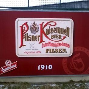 reklamní značení Pilsner Urquell