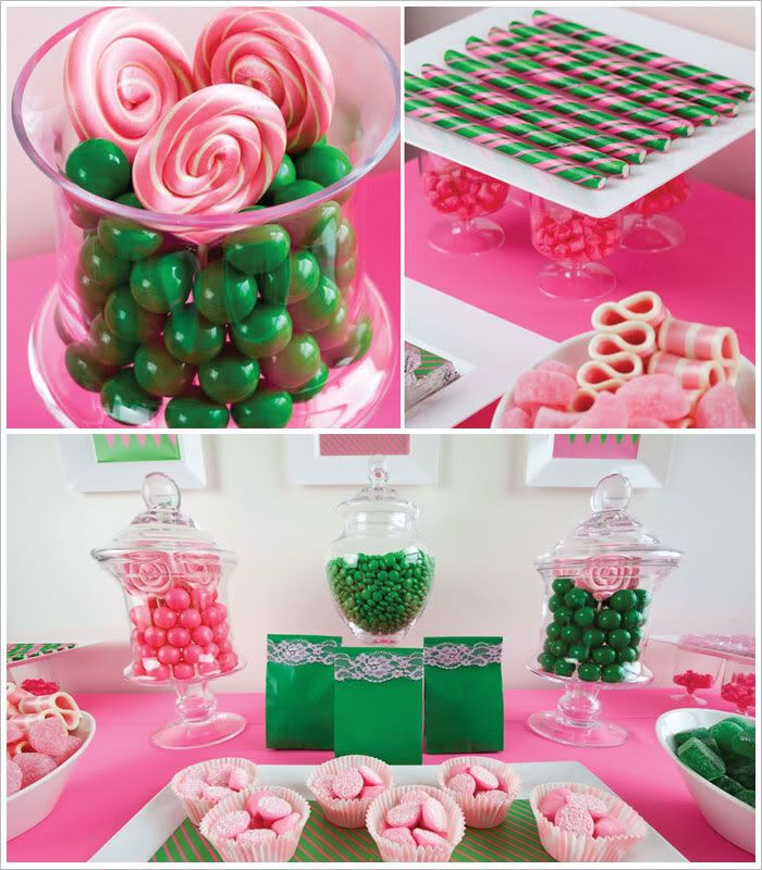 1000 Images About Pink And Green Party Ideas On Pinterest
