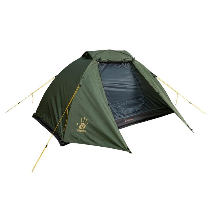 12 Survivors Shire Two Person Tent Green