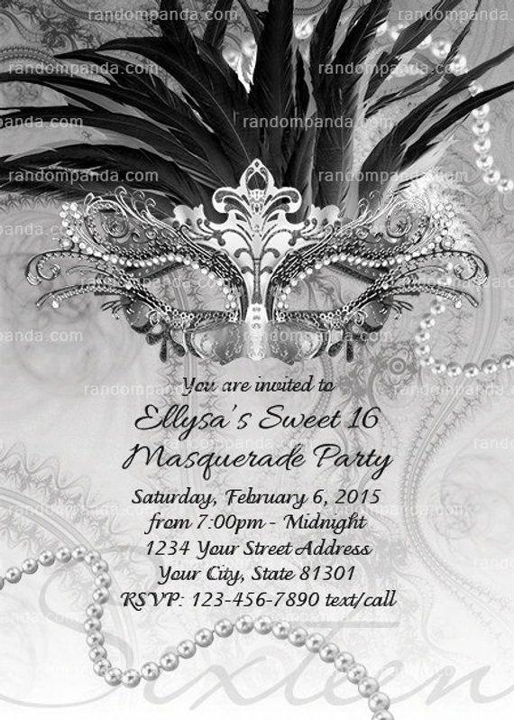 b914c928be ON SALE Masquerade Ball Invitation