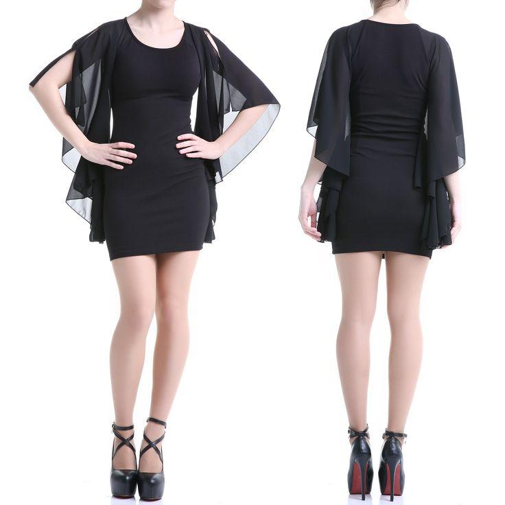 Gothic Kleid mit Tüll-Ärmeln | Crazyinlove Deutschland