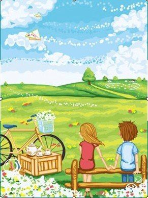 CR 000- Nature and Couple Rp 165.000,-  Canvas size: Ukuran 30 x 40 Packaging size: 31 x 41 x 3.5 cm (setara dengan 1 kg)  ALICE painting kit sudah termasuk - Kanvas pattern lukisan yg dibuat dari high grade cotton dengan tekstur halus. - Cat pigment warna yg ramah lingkungan, tidak beracun dan tidak cepat pudar. - Beberapa kuas nylon. - Kertas manual kode warna  Contact: Email: jjbigstore@yahoo.com We Chat, Kakao, Line: silvblue SMS: 0818 0832 9022 WhatsApp 0896-2860-9094