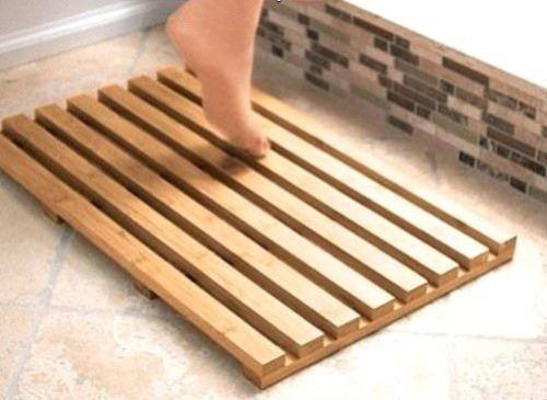 Strong Bamboo Wood Slatted Duck Board Rectangular Bathroom Bath Shower Mat in Home, Furniture & DIY, Bath, Bath Mats   eBay