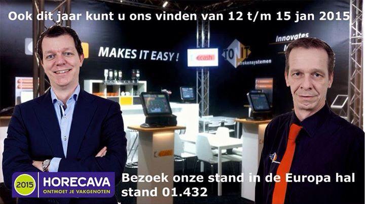 Ton van Laarhoven en Bert van Laarhoven op de horeca beurs Horecava 2015 Amsterdam
