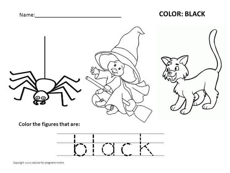 preschool color black Color Black Worksheets Preschool
