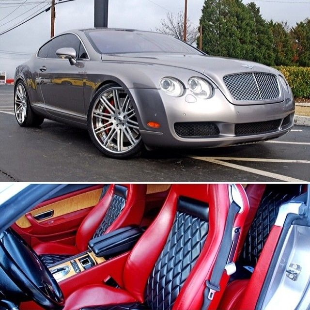 grey bentley gt on asanti 504 with blood red and black interior diamond stitch auto addiction. Black Bedroom Furniture Sets. Home Design Ideas