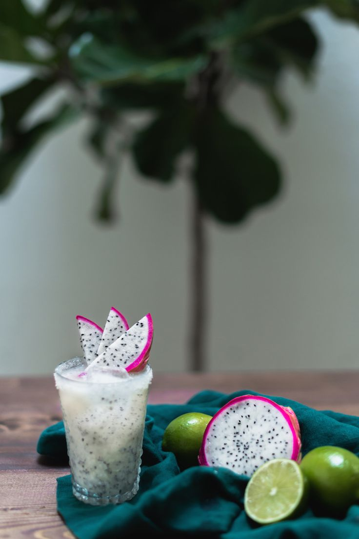 Pineapple Dragon Fruit Margarita // craftandcocktails.co
