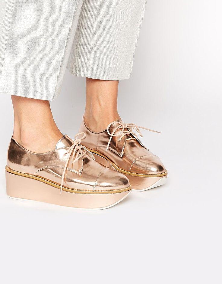 ALDO Quirta Rose Gold Flatform Shoes