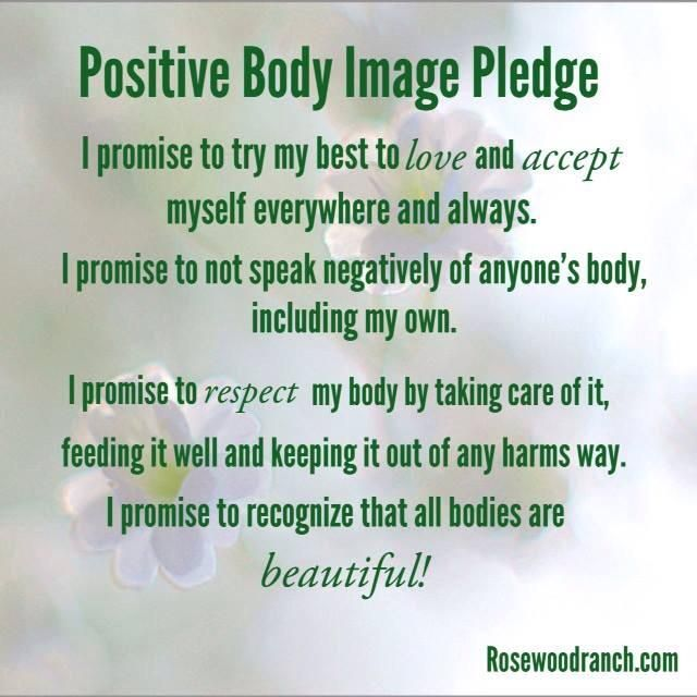 Positive body image pledge :) #freespo #bodypositive ...