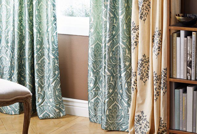 Love these curtains. Esp the one on right. Bohemian elegance