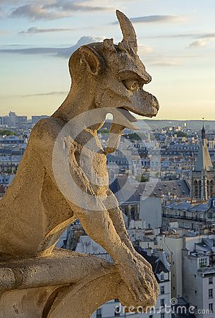 Notre Dame Gargoyle Statue