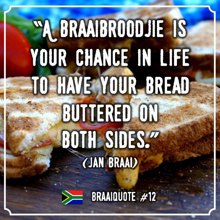 Komend weekend stijgt het kwik (eindelijk)! Maak jij dan braaibroodjies? Volg ons voor nog meer leuke quotes, recepten, producten enz. die met de Zuid-Afrikaanse braai te maken hebben. Bezoek onze webshop of volg ons op social media voor mooie braai-producten, recepten, tips en meer: www.onsgaanbraai.nl // facebook.com/onsgaanbraai // twitter.com/onsgaanbraai // instagram.com/onsgaanbraai