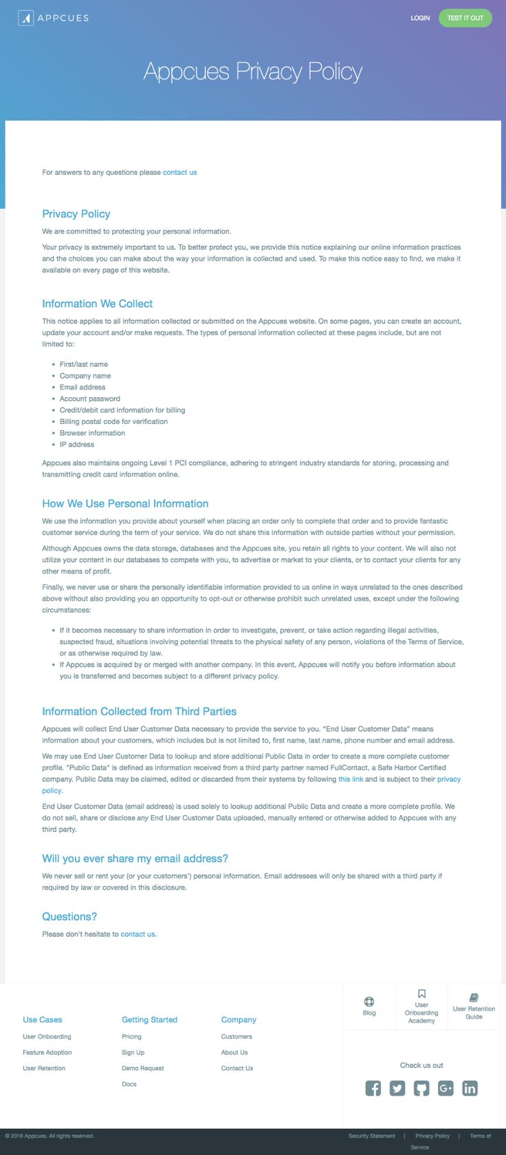 Free Privacy Policy Template Generator for Credit Card