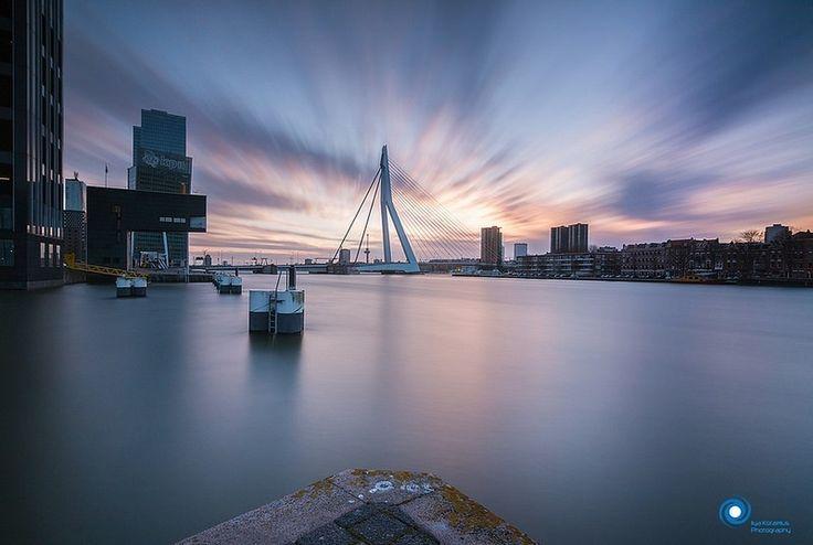 Sunset in Rotterdam by Ilya Korzelius.