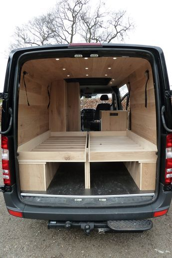 Mercedes Sprinter Camper Met Eiken Interieur Groot Bed 1 Tiny