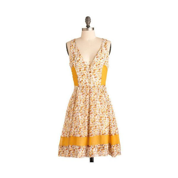 B&B Reservations Dress ($70) ❤ liked on Polyvore featuring dresses, vestidos, modcloth, taylor swift, printed dresses, cocktail dresses, rose dress, beige dress, beige cocktail dress and long evening dresses