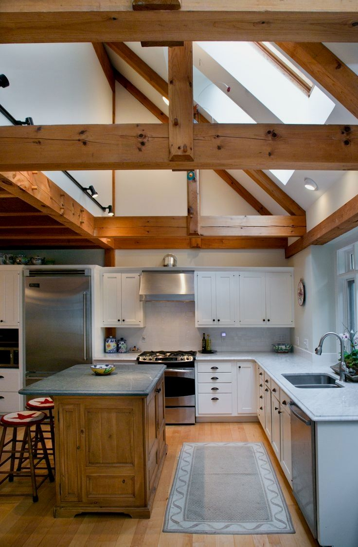9 Great Exposed Beam Ceiling Lighting Ideas in 9   Kitchen ...