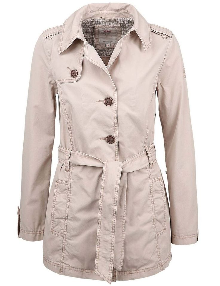s oliver damen trenchcoat sommerjacke jacke beige neu gr. Black Bedroom Furniture Sets. Home Design Ideas