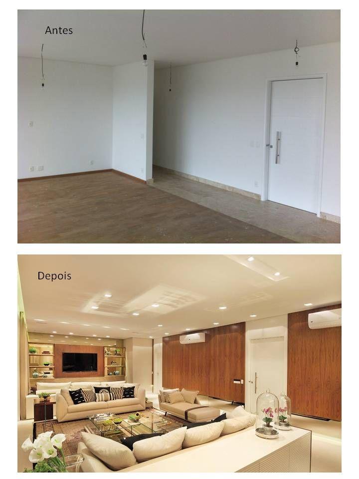 Apartamento antes e depois do nosso projeto!