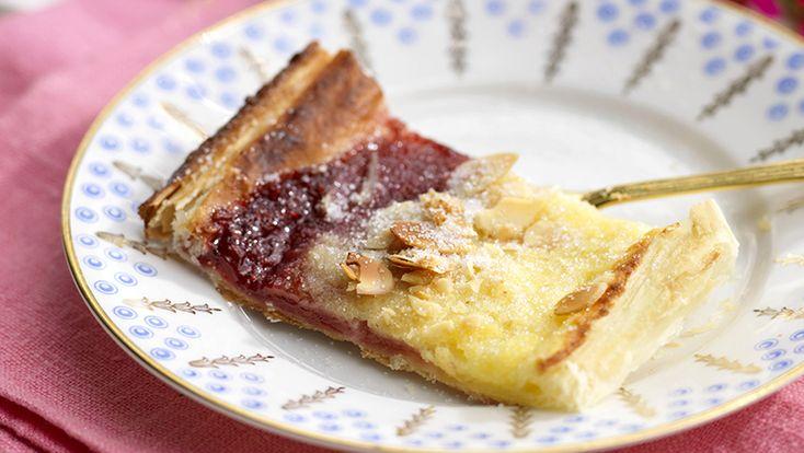 Recept snabb wienerlängd med vanilj och hallon
