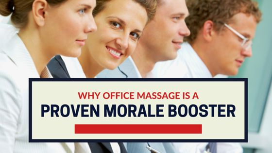 Proven Ways to Boost Employee Morale: Why Office Massage Delivers  Employee morale is the cornerstone of a successful business. Without dedicated workers, no business can get very far.  Creating employee dedication means keeping morale high. Find out why office massage programs are a guaranteed way to boost morale.